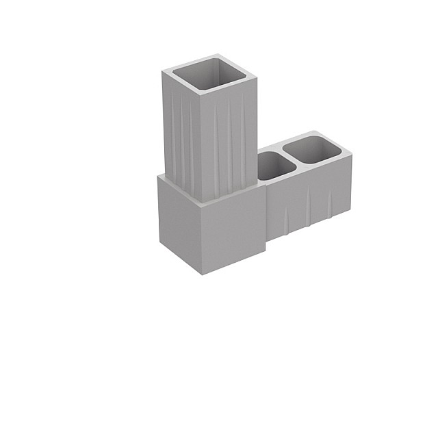 L CONNECTOR 20x20, GREY